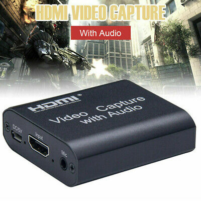HD 1080P 60fps HDMI Video Capture Card USB 2.0 Mic Game Record Live Streaming • 18.99£