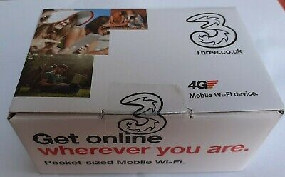 BRAND NEW  THREE  4G MOBILE HOTSPOT Model E5573Bs-322 • 22.50£