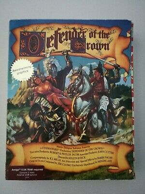 Vintage Computer Game For Amiga Defender Of The Crown By Cinemaware • 10.50£