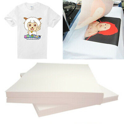 20Pcs A4 Iron On Inkjet Print Heat Press Transfer Paper Light Fabric T Shirt ·uk • 5.79£