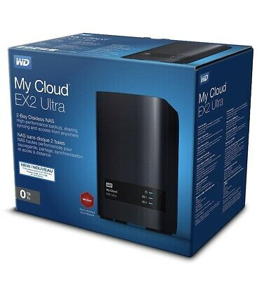 ✅ FAST P&P ✅ WD My Cloud EX2 Ultra - Black, Diskless - Network Attached Storage • 199.99£