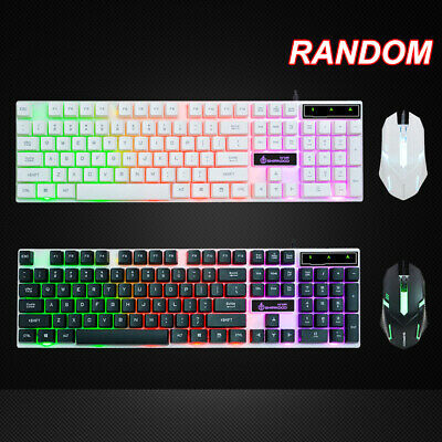 7 Colors RGB USB Wired Gaming Keyboard And Mouse Set For PC Laptop Xbox One UK   • 6.99£