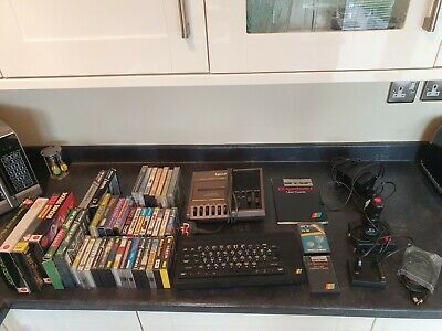 Sinclair ZX Spectrum + 48k Vintage Computer & Software & 41 Game Bundle • 69£