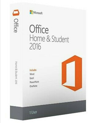 Microsoft Office Home And Student 2016 Lifetime (Windows PC Only) - One User • 38.99£