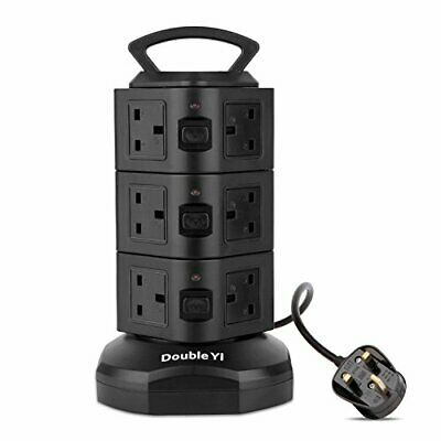 DURABLE Extension Cable Lead Socket Extension Power 12 Way Plug Surge • 26.99£