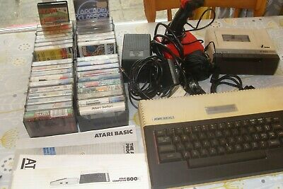 Atari 800 XL With 1010 Tape Player, Cables, Joystick, Manuals And 36 Game • 80£