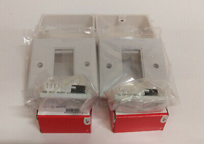 2 X CAT5e Euro Module Single Sockets With Face Plates And Back Boxes • 14.95£