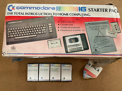 Commodore 16 Boxed With Cassettes See Description Free Post.  • 150£