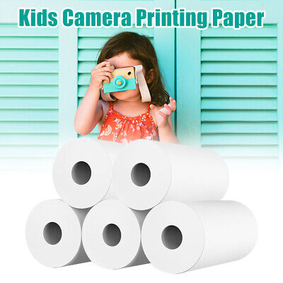 10rolls White Kids Camera Wood Pulp Thermal Paper Instant Print Students Gift • 9.87£
