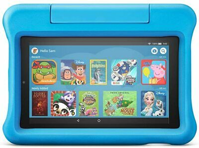 Fire 7 Kids Edition Tablet   7  Display, 16 GB, Blue Kid-Proof Case • 124.99£