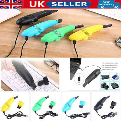 UK Mini Computer Vacuum USB Keyboard Cleaner PC Laptop Brush Dust Cleaning Kit • 4.69£