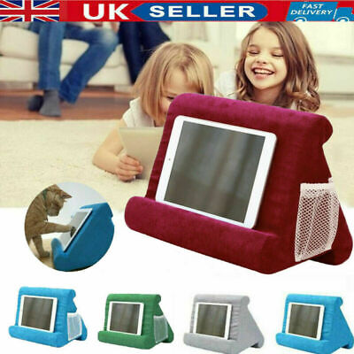 UK Soft Pillow Lap Stand For IPad Tablet Multi-Angle Phone Cushion Laptop Holder • 9.99£