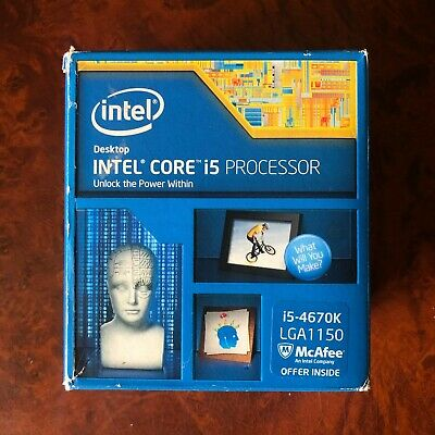 Intel Core I5 4670K - 3.4GHz Quad-Core (BX80646I54670K) Processor • 9.50£