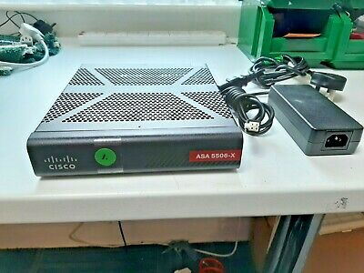 Cisco ASA 5506-X V02 Firewall C/w And  Power Supply All Working And Reset. • 105£
