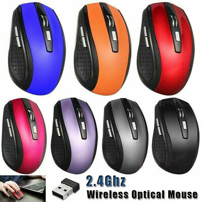 2.4GHz Wireless Mouse Cordless Mice Optical Scroll For Laptop PC Computer + USB • 5.49£