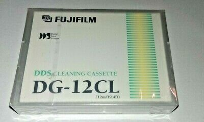 FujiFilm - 4mm DAT Cleaning Cartridge For DDS: 1,2,3,4 DG-12CL *New/Sealed* X5 • 19.99£