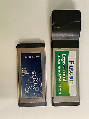 Two ESATA ExpressCards 34mm, One Generic And One Pluscom ESCB-JMB360 • 22£