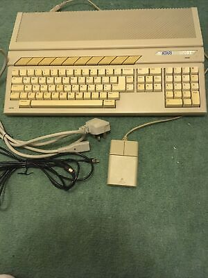 ATARI 520 STFM Computer. Fully Working. Mouse. Power Lead. RF Cable. • 41£