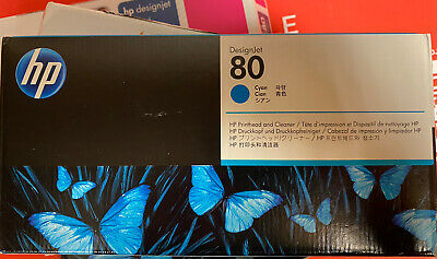 HP Designjet 80 Cyan Printhead And Cleaner • 35£