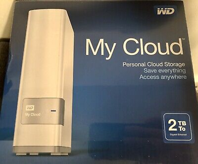Western Digital WD My Cloud 2TB Portable Network Storage MyCloud New & Sealed • 69.99£