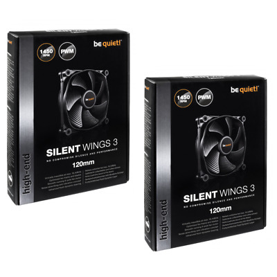 Be Quiet! Silent Wings 3 120mm PWM High-Speed, Cooling Fan X2 - TWIN PACK, NEW • 36.99£