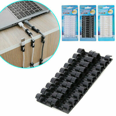 20Pcs Wire Organizer Securing Cable Clamp Storage Clips Buckle Line Finishing UK • 2.50£