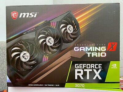 MSI RTX 3070 GAMING X TRIO Ampere Graphics Card **TRUSTED SELLER** FAST SHIPPING • 949.99£