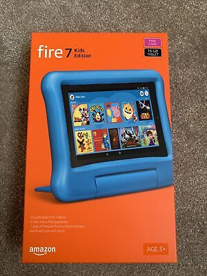 Fire7 Kids Edition Tablet. 7  Display, 16 GB, Blue Kid-Proof Case Included 2019 • 65.99£