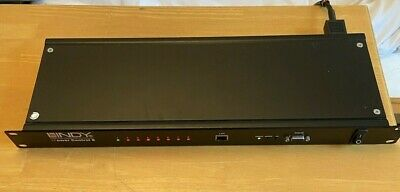 LINDY IPOWER-8 PDU 8way SWITCHED POWER DISTRIBUTION UNIT Rackmountable - USED • 75£