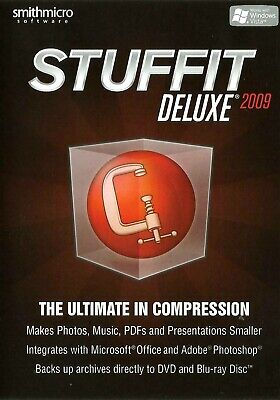 Stuffit Deluxe 2009 ~ A Pc Cd Rom. The Ultimate In Compression Software • 3.99£