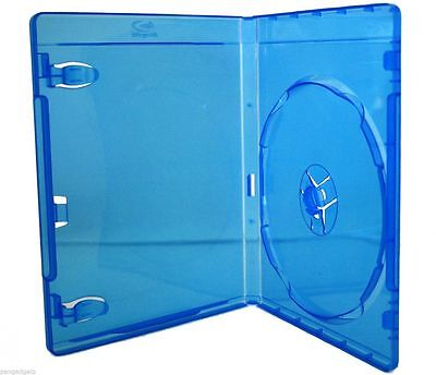 1 X Amaray 15mm Single Blue Blu-ray Case Free Delivery -SUPER LOW PRICE- UK Made • 1.49£