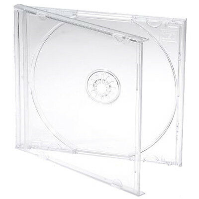10 X Single CD Jewel Case Cases 10mm 10.4mm Clear Tray HIGHEST QUALITY PLASTIC • 6.23£