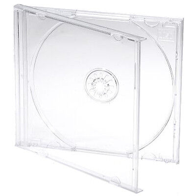 25 X Single CD Jewel Case Cases 10mm 10.4mm Clear Tray HIGHEST QUALITY PLASTIC • 10.12£