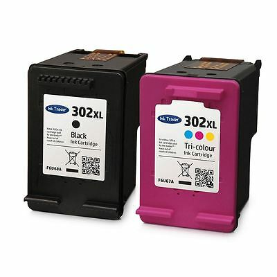 HP 302 XL Ink Cartridges Combo - Black & Colour Ink For HP Envy 4520 Printers • 28.95£