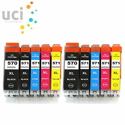 10 Ink Cartridge Replace For Canon Pixma MG5750 MG5751 MG5752 MG5753 MG6850 • 12.47£