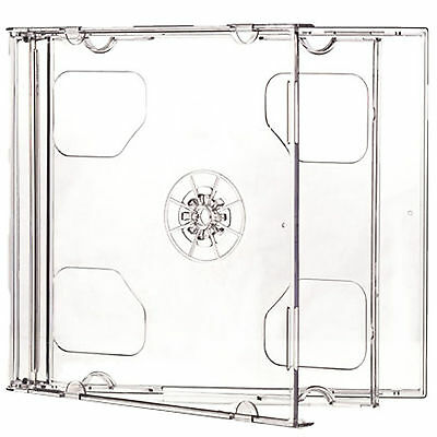10 X CD DVD Double Jewel Cases 10.4mm For 2 Disc With Clear Tray HIGH QUALITY • 7.70£