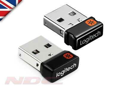 Genuine Logitech Unifying Receiver-Wireless Mouse/Keyboard USB Dongle-6 Devices • 9.99£