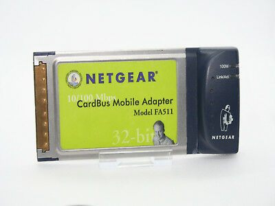 Netgear Fa-511 10/100 Fast 32 Bit Laptop Pcmcia Card - Uk Seller • 7.99£