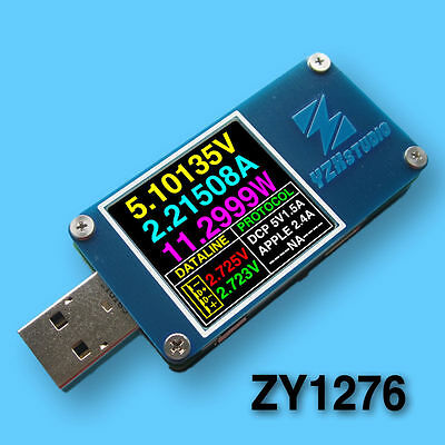 YZXstudio ZY1276 USB Power Monitor QC 3.0 TypeC PowerDelivery PD Tester FCP AFC • 32.81£