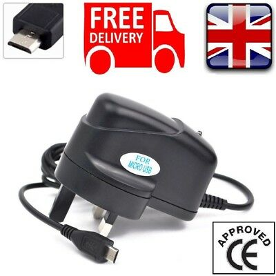 UK Charging 1Amp Micro Mains Wall Charger For SONY EXPERIA Z Z1 Z3 Z4 Z5 XA X • 6.29£