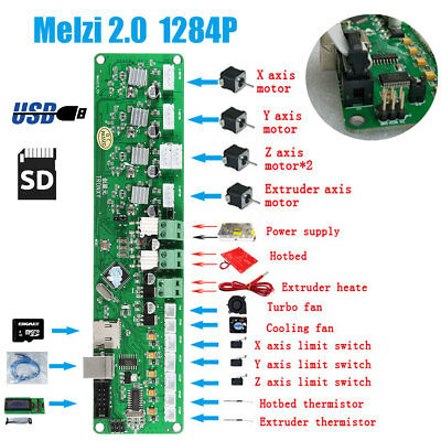 For Tronxy Mainboard Melzi 2.0 1284P Motherboard 3D Printer Controller PCB Board • 28.02£