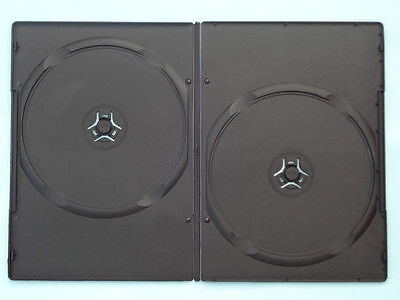 10 X DOUBLE DVD Case Cases 9mm Spine Slim Black Clear Front Cover Sleeve • 4.25£