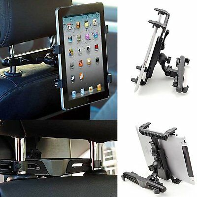 Universal In Car Back Seat Headrest Holder Mount Cradle For Ipad Tablets Samsung • 7.12£