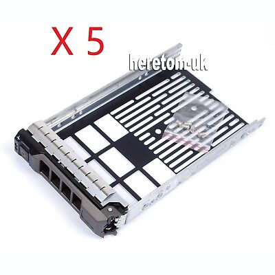 Lot Of 5  F238F 3.5  Hard Drive Tray Caddy For Dell R720 R710 R510 R420 R410 • 34.79£