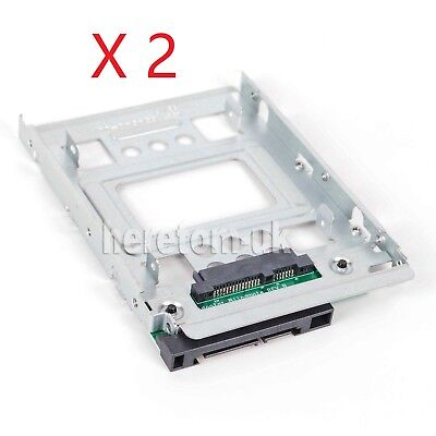 2 PCS SAS/SATA/SSD 2.5  To 3.5  Adapter For 3.5  HP ProLiant DL380p Caddy • 15.15£