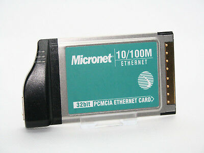 ✔️⚙️ Micronet 10/100 Sp160ta 2400-1381 32 Bit Laptop Pcmcia Card - Uk Seller • 7.99£