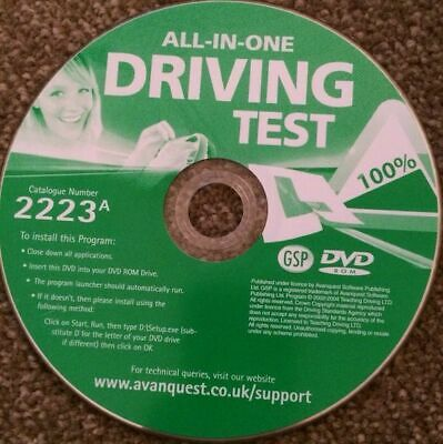 All In One Driving Test  Pc Dvd -rom Disc Only • 1£