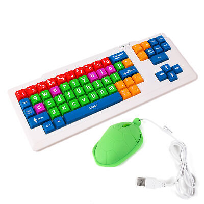 Colourful Kid's Proof Childrens KeyBoard & Turtle Mouse Bundle • 24.99£