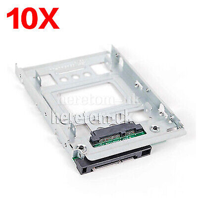 10pcsNEW HP 2.5  To 3.5  SSD Hard Drive Tray Caddy Sled For Apple Mac Pro Macpro • 89£