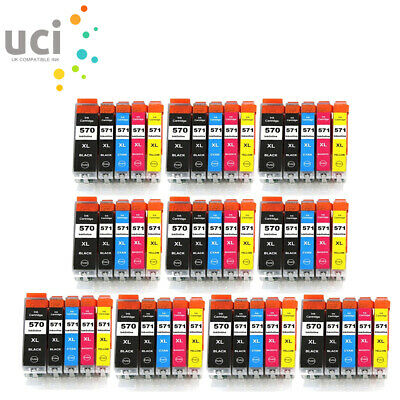 Ink For Canon PGI570 Pixma MG5750 MG5751 MG5752 MG6850 TS5050 TS5051 TS6050 LOT • 12.47£